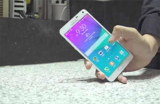 Galaxy Note 4 en test de resistencia