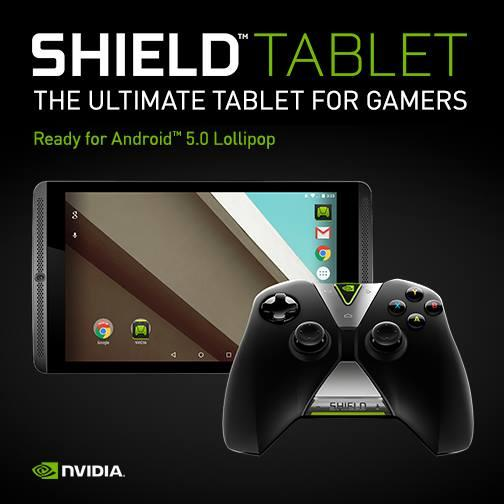 Nvidia Shield Tablet se confirma actualización a Android 5.0 Lollipop