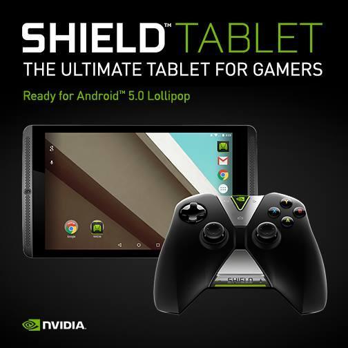 Nvidia Shield Tablet actualización a Android 5.0 Lollipop