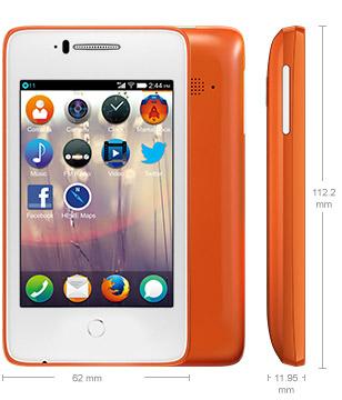 Alcatel Fire C con Firefox OS 1.3 en Movistar México color naranja