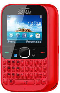 Alcatel One Touch 3075 Tribe en México con Telcel color rojo