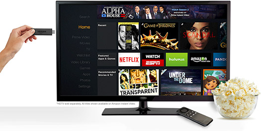 Amazon  Fire TV Stick para competir con Chromecast de Google