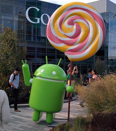 Estatua Android Lollipop en oficinas de Google