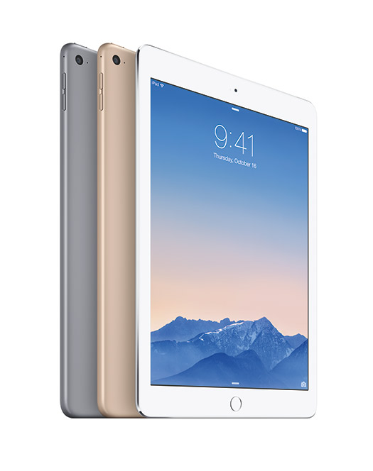 Apple iPad Air 2 oficial pantalla retina