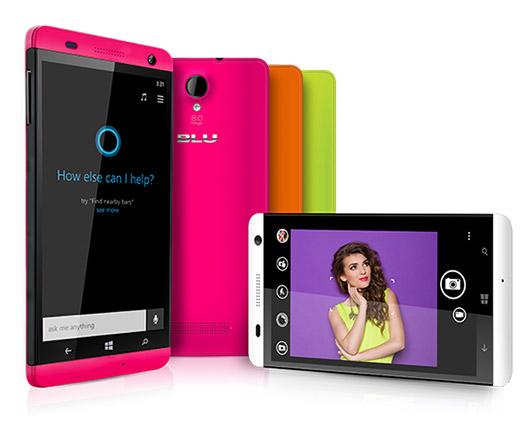 Blu Win HD colores pantalla y cámara posterior