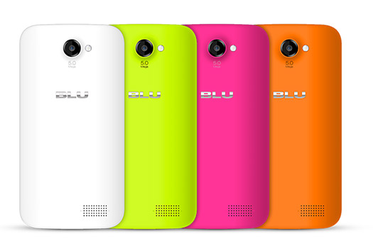 Blu Win JR con Windows Phone 8.1 en México colores parte posterior