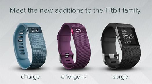 Fitbit Charge, Chaerge HR y Surge para México