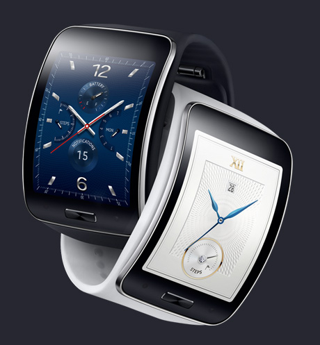 Samsung Gear S color blanco y negro