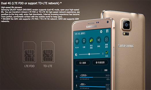 Samsung Galaxy Note 4 duos doble ranura SIM