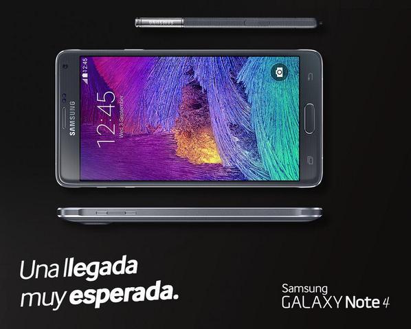 Samsung Galaxy Note 4 en México con Telcel
