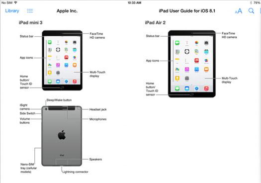 Apple iPad Air 2 y iPad Mini 3 en manual