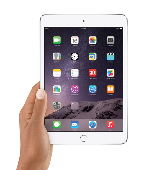 Apple iPad mini 3 con sensor Touch ID
