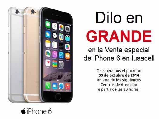 Iusacell tendrá hoy venta nocturna de los iPhone 6 y iPhone 6 Plus
