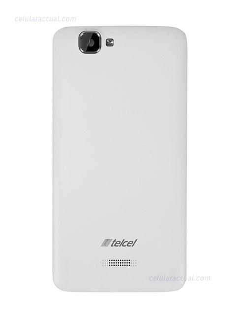 El Lanix Ilium S620 en México con Telcel parte posterior color blanco