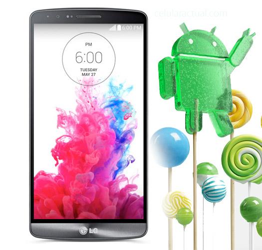 LG G3 con Android 5.0 Lollipop Logo mascota