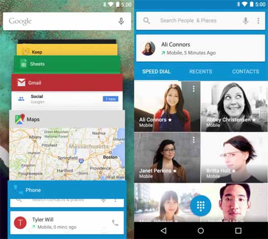 Android Lollipop capturas de pantalla