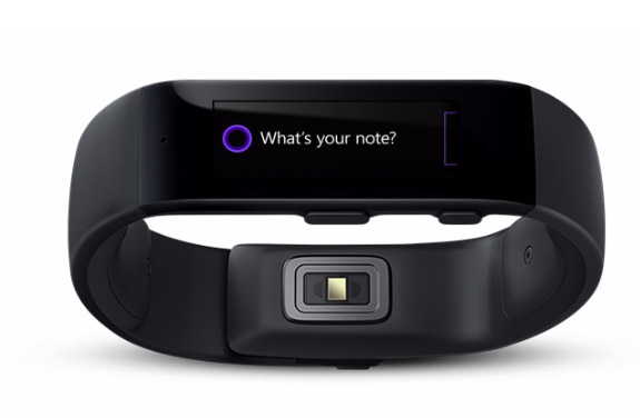 Microsoft Band reloj inteligente  frente con Cortana