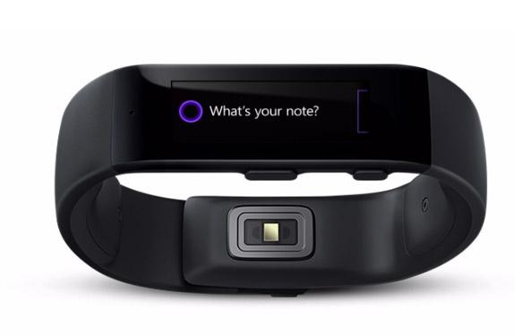 Microsoft Band reloj inteligente  frente con Cortana