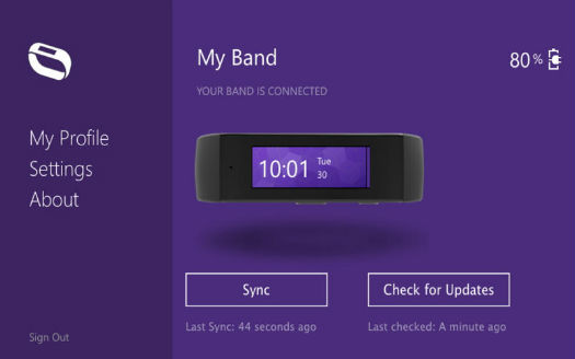 "Microsoft Band ""My band"""