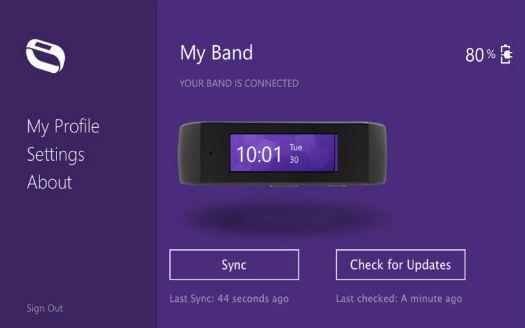 """Microsoft Band """"My band"""""""