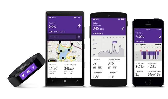 Microsoft Band reloj inteligente compatible con Windows Phone Android y iOS