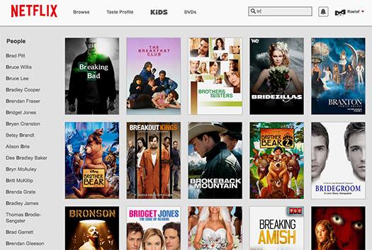 Netflix Búsqueda
