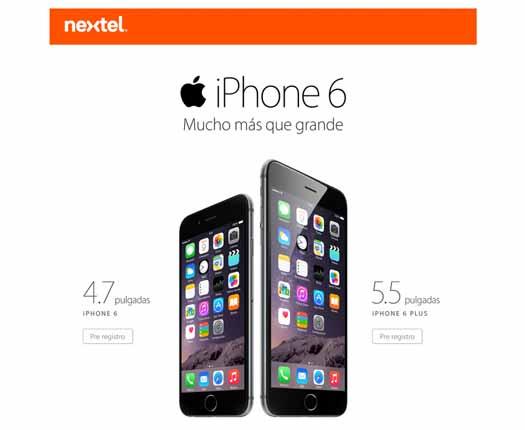 iPhone 6 en Nextel