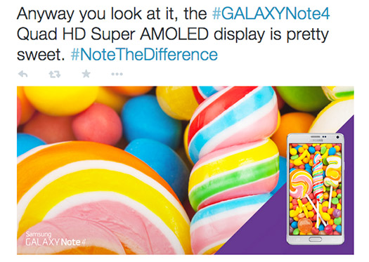 Samsug Galaxy Note 4 con Android 5.0 Lollipop Twitter oficial