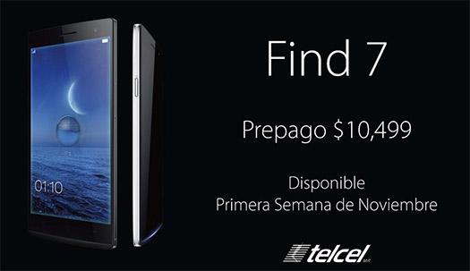 Oppo Find7 en México con Telcel