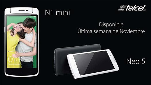 Oppo N1 Mini con Telcel en México