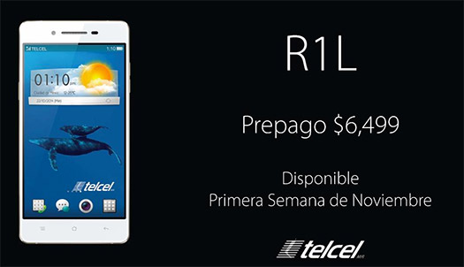 Oppo R1L con Telcel en México