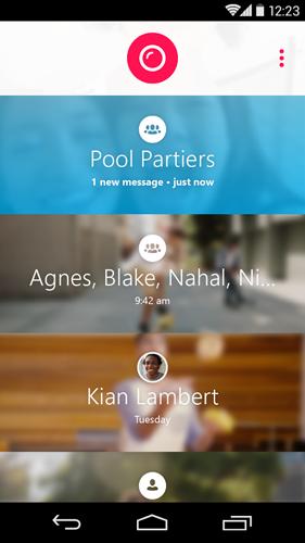 Skype Qik pantalla principal