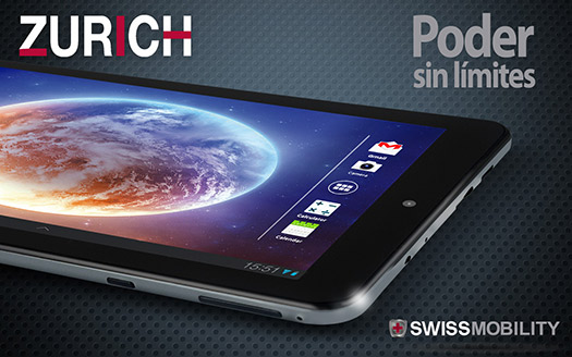 Swiss Mobility Zurich 7 en México pantalla HD