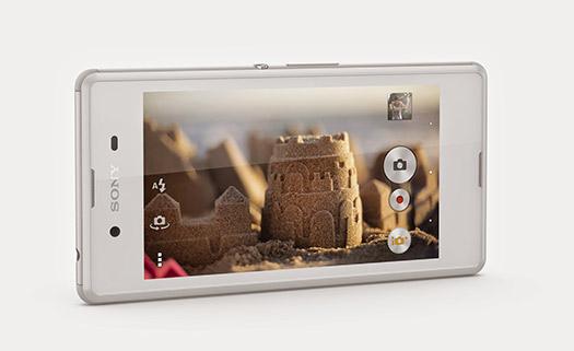 Sony Xperia E3 color blanco App cámara