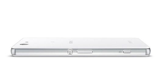 Sony Xperia Z3 compact de lado delgado