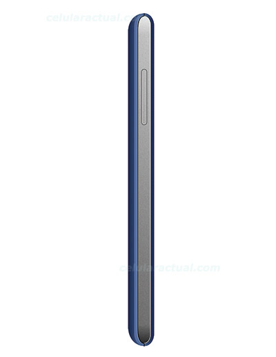 ZTE Kiss II Max color azul lateral