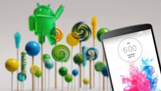 Android Lolli pop en LG G3