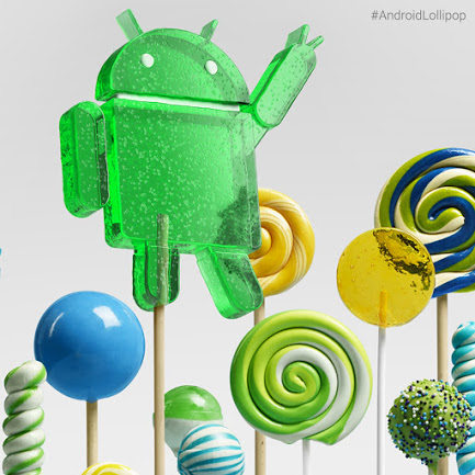 Android Lollipop piruleta