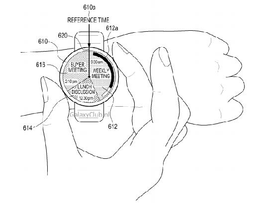 Samsung smartwatch boceto de patente