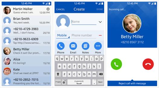 Llamadas y contactos en Tizen OS