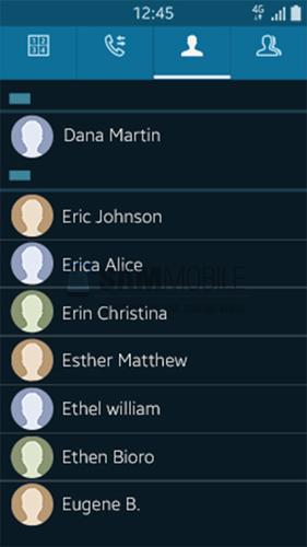 Tizen OS contactos