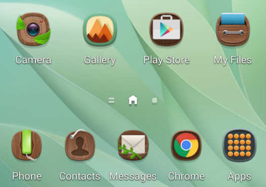 TouchWiz themes de Samsung