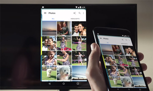 Chromecast pantalla en espejo desde smartphone con Android