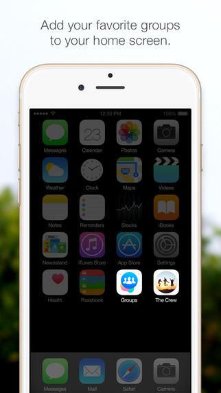 Facebook Groups en iPhone icon app