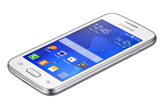 Samsung Galaxy Ace 4 Lite Duos  SM-G313ML color blanco pantalla recostado
