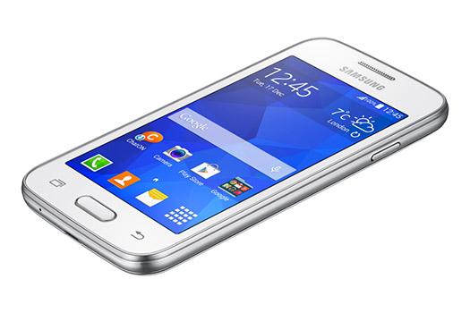 Samsung Galaxy Ace 4 Lite Duos SM-G313ML color blanco pantalla recostado