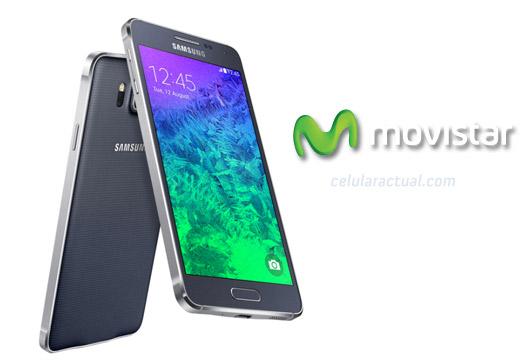 Samsung Galaxy Alpha en Movistar México logos