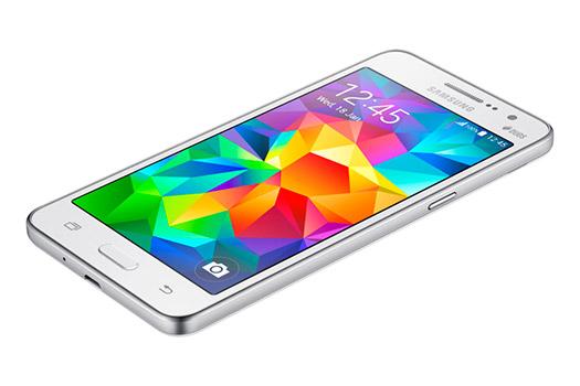 Samsung Galaxy Grand Prime SM-G530H color blanco de lado
