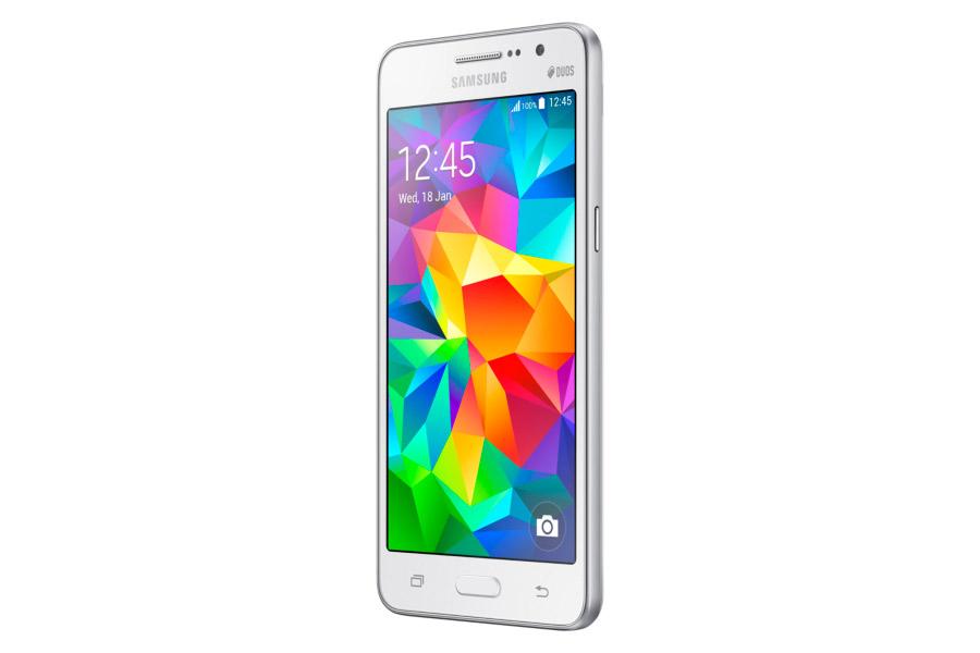 Samsung Galaxy Grand Prime SM-G530H color blanco de lado izquierdo