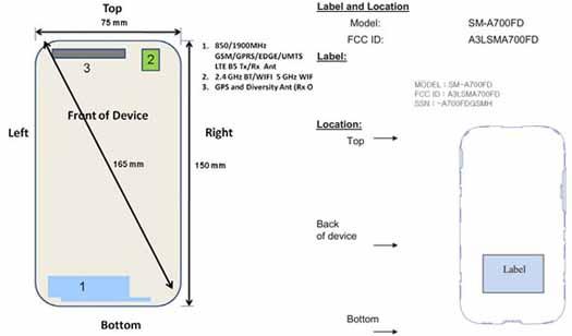 Galaxy A7 en registro FCC